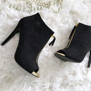 Peep Toe Ankle Booties